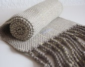 Organic Cotton Handwoven Scarf titled 'Sparking Oats and Rye'