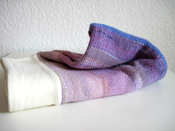 Organic Ombre Baby Blanket handwoven with Eco Fibers and backed with Organic cotton Hemp heavyweight
