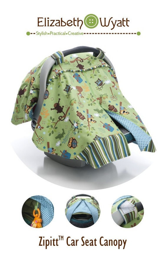 Zipitt Car Seat Canopy Sewing Pattern