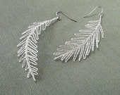 Feather Earrings silver plated