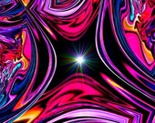 "Energy Art Digital Painting Abstract Art Print ""The Portal"""