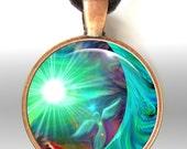 Chakra Jewelry Energy Art Pendant Necklace Reiki Angel Necklace