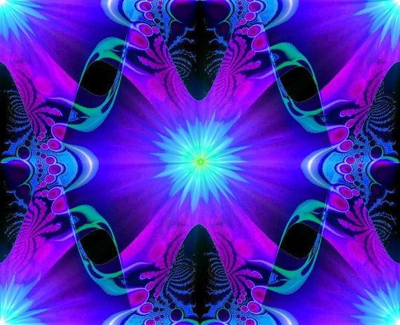 Abstract Art Wall Decor, Purple Third Eye, Chakra Reiki Energy Art Print