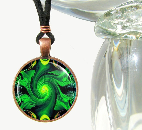 Chakra Jewelry-Green Necklace-Reiki Heart Chakra-Energy Pendant Necklace