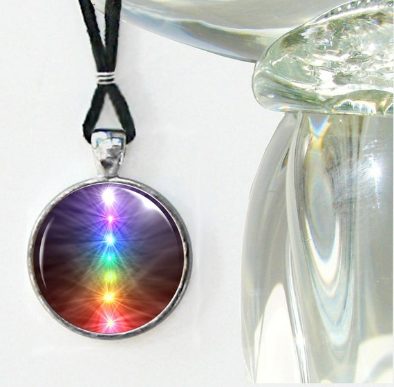 Chakra Necklace Reiki Jewelry Energy Pendant Necklace Silver