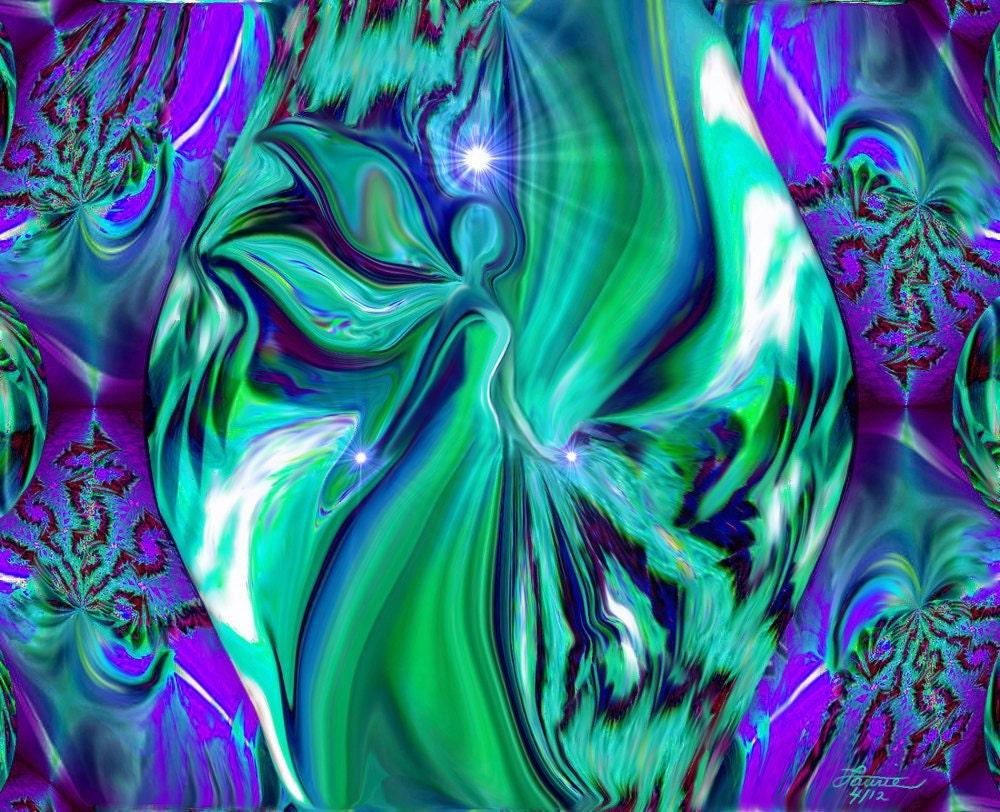 Abstract Angel Art