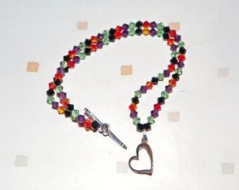 Halloween double strand bracelet