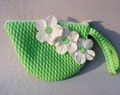 Swim Cap Bag -- Green Zip