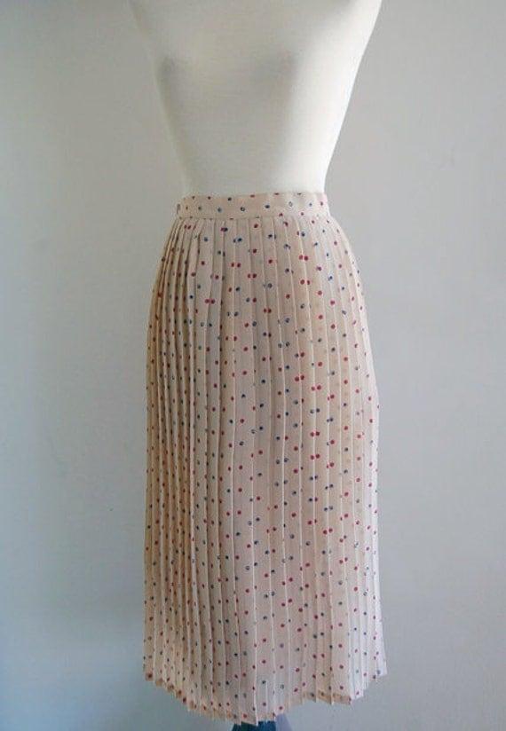 1970s accordion pleat midi skirt