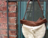 Classic Cable Knit Bag PDF pattern. Designer Fall Fashion by Skadoot on Etsy.