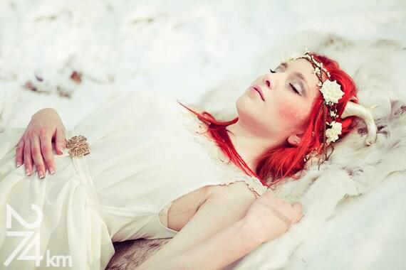 The deer princess dress - Bridal fantasy costume fairytale wedding