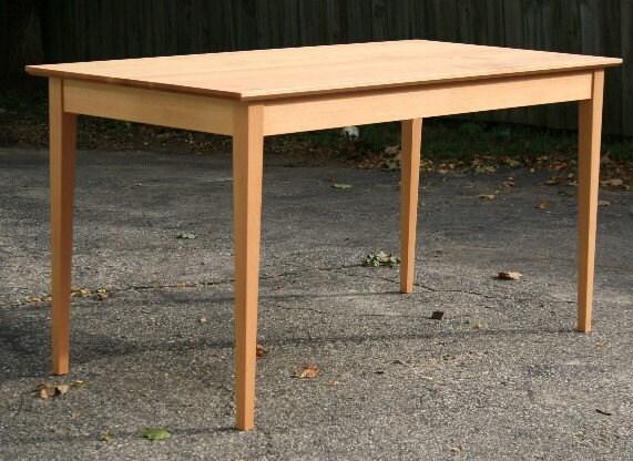 zoom. Handmade Shaker Dining Table