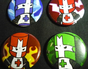 Individual Castle Crashers Pins Buttons Badges 1.25 inch