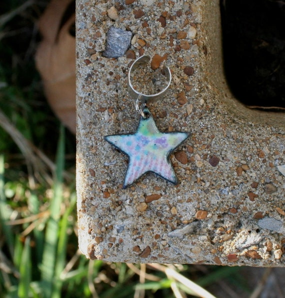 Closeout Sale / Ear cuff with Star / Enameled Copper