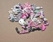 Cabochon Distash Kawaii Jewelry Supply Lot - Great jewelry starter kit - (H)