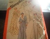 Ladies Vintage 80's Bathrobe Pattern Small
