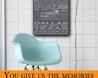 """Personalized Typography Art - Large Rectangle (24""""W x 48""""H x 2""""D)"""