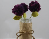 Pom Pom Flower Bouquet and Vase
