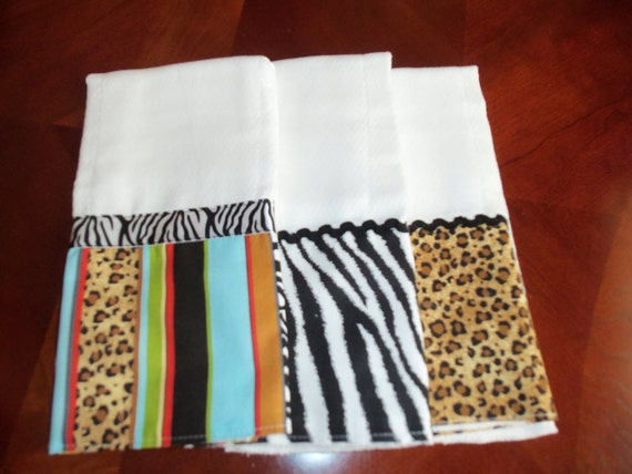 Animal Print Burping Cloth Set
