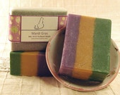 Fruity Floral Mardi Gras - Handcrafted Shea Butter Soap