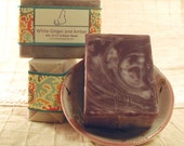 White Ginger and Amber - Handcrafted Shea Butter Soap
