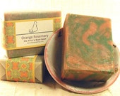 Orange Rosemary Hand Crafted Kitchen Soap with Shea Butter