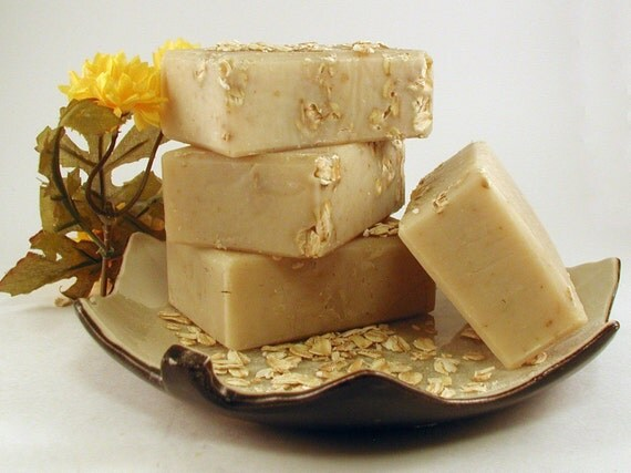 Oatmeal, Milk, and Honey - Handcrafted Shea Butter Soap