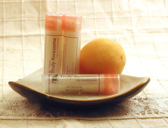 Truly Awesome Fuzzy Peach - Lip Conditioning Balm with Shea Butter and Coconut Oil