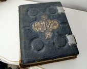Antique leather bound illustrated bible from 1900