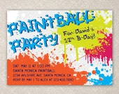 Paintball Party Invite
