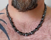 """CLEARANCE ---- 24"""" Hematite Necklace - Unisex - Great Gift Idea - Christmas is Coming"""
