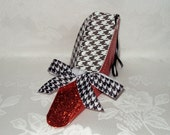 """Alabama Crimson Tide High Heel Paper Shoe (regular shoe or ornament) 6"""""""