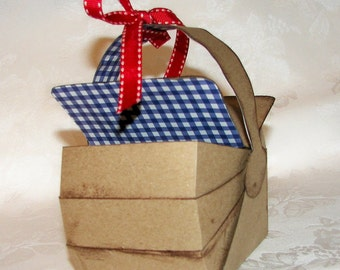 Gift Box, 3D Picnic Basket Gift Box Favor