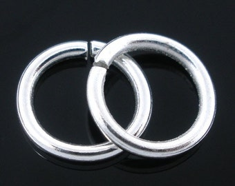 300 pcs Silver Plated Open Jump Rings - 9mm - 16 Gauge