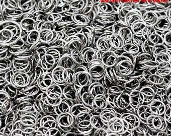 200 pcs Silver Tone Open Jump Rings 6mm - 21 Gauge