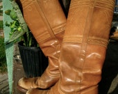 Vintage Knee High Frye Leather Boots - RESERVED FOR PLUMEBOHEME