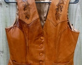 Vintage Stetson Leather and Snakeskin Vest