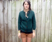 Vintage Green Wool Cardigan