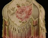Victorian Roses Lampshade Handmade w/ Vintage Look lamp shade