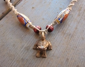 Lucky Frog Tribal Chinese Hemp Natural Necklace