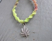 Rasta Reefer Natural Hemp Bracelet