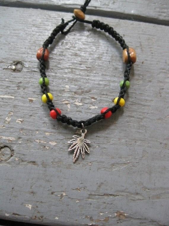 rasta bracelet with wooden