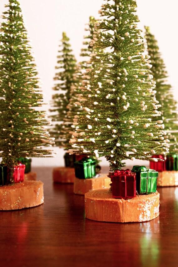 LAST SET - Mini Christmas Trees - Set of 6