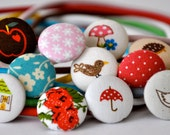 SALE 50% OFF EVERYTHING see shop announcement for details - set of eleven - party pack of fabric covered button headband