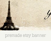 Premade Etsy Shop Banner and Avatar - French 01