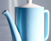 "Vintage Style House ""Nordic"" Ironstone Coffee Pot in Blue - 1960's"