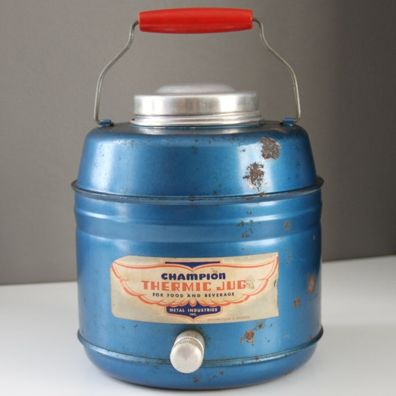 Vintage Blue Champion Thermic Jug - 1940's