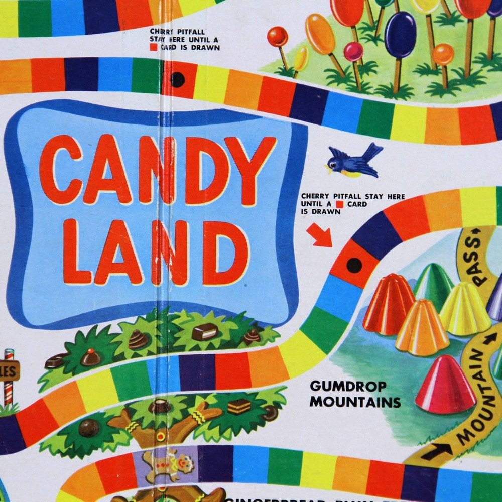 Vintage Candyland Board Game 112