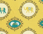 Michael Miller Yellow Menagerie Fabric