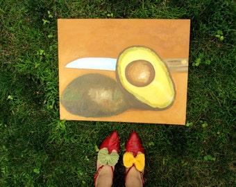 Original Avocado Oil Painting by Polly Bland